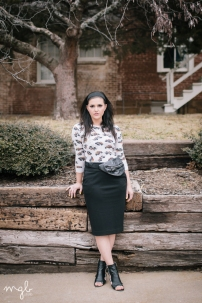 the NAM Pencil Skirt in Black | by MGB Photo