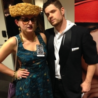 going hard backstage with my favorite cohost, Bo Counts